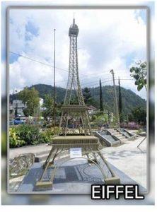 patung menara eifel balekambang karanganyar