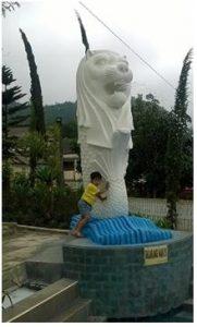 patung singapura balekambang karanganyar